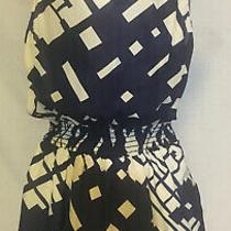 Akiko Navy and Cream Print Romper Size S Nwt Photo