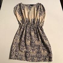Akiko Silk Print Pattern Ruched Shortsleeve Cinch Waist Mini Casual Career Dress Photo