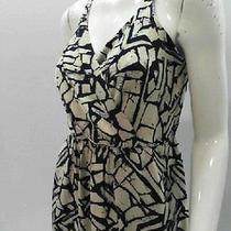 Akiko Women's Medium Printed Racerback Dress River Stone Photo