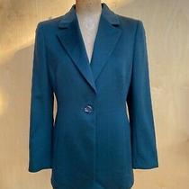 Akris 100% Cashmere Dark Green Blazer Uk 12 Usa 8 De 38 F 40 Photo