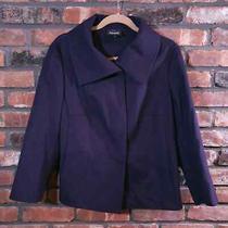 Akris Bergdorf Goodman Purple 100% Cashmere Jacket Lined Career Women's Sz 12 Photo