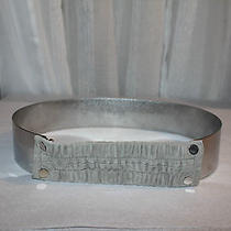 Akris (Black Label) Gray Grey Suede Metal Belt Adjustable Stretchy Rare Runway Photo