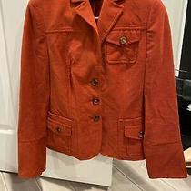 Akris Blazer Jacket Camel Hair Blend Salmon/red Orange Size 10 Photo