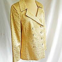 Akris Blazer Jacket Deadstock Gold Lame Metallic Silk Evening Nos Texture 10 Photo
