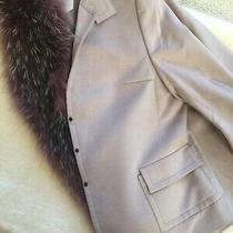 Akris Blazer Jacket Mauve Nude Wool Angora Size 12 Photo