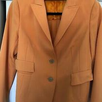 Akris Coral Wool Jacket Coat Blazer 10 Us 42 It Pre-Owned Photo