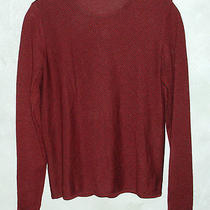 Akris Couture Sweater Dark Red & Black Cashmere & Silk Diagonally Striped M Photo