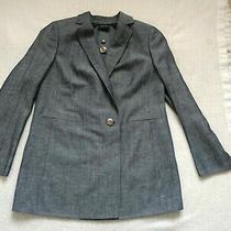 Akris Gray Wool Flax Blend Jacket/blazer Us Size 12 Photo