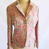 Akris Jacket Blazer Dead Stock Nos  Tunic Pink Floral Tapestry Spring Summer 4 Photo