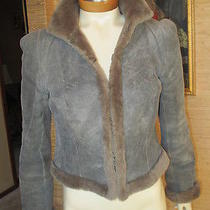 Akris Luxurious Gray & Taupe Shearling Jacket With Shearling Trim Size 4 Photo