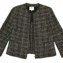 Akris Punto Bergdorf Goodman Women's Check Zip Unlined Blazer Jacket Size 8us Photo