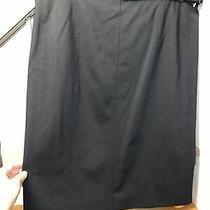 Akris Punto  Black All-Season Wool Belted Back-Zip Pencil Skirt Womens 12 New  Photo