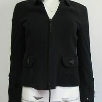 Akris Punto Black Felt Circle Cut Out Blazer Size 4 Photo