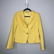 Akris Punto Blazer Size 42fr 10us Bright Yellow Two Button Photo