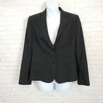Akris Punto Blazer Size 8 Black 2 Button 100% Wool Lined Classic Long Sleeves Photo