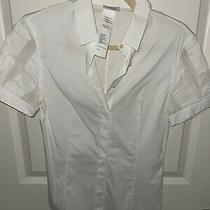 Akris Punto Blouse White Size 6 Shirt Top Button Down Photo