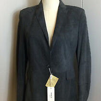 Akris Punto Charcoal Gray Ultra Suede Jacket Fully Lined Size 8 Nwt Photo