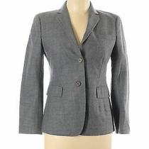 Akris Punto for Bergdorf Goodman Women Gray Wool Blazer 6 Photo