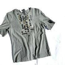 Akris Punto Gray Viscose Embellished T Shirt Top 12 Photo