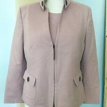 Akris Punto Jacket Blazer Sz Us10 With Tee Shirt Sz 12 Dusty Rose Photo