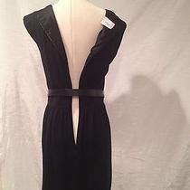Akris Punto  Lbd Wool Black Wiggle Corset  Knee Lenght  Dress Size 8  Photo
