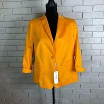 Akris Punto Long-Sleeve One-Button Blazer Size 14 Photo