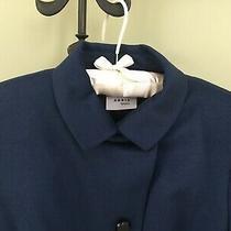 Akris Punto Marine Blue Wool / Angora Blazer - Asymmetrical Closing - Size 10 Photo