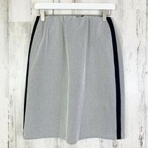 Akris Punto Nwot Navy & White Mesh Pencil Skirt Size Us 8 Photo