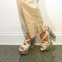 Akris Punto Oatmeal Beige Cropped Trousers Pants Fluted Cuff 495 Us 6 Beautiful Photo