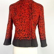 Akris Punto Red Brown Wool Blazer Blazer Size 8 Photo