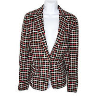 Akris  Punto  Size 12 Womens Plaid Jacket Blazer Single Breasted Photo