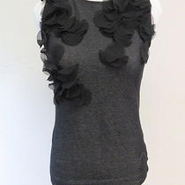 Akris Punto Sleeveless Top With Silk Circle Appliques Black Size 4 Gently Worn Photo