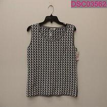 Akris Punto Soundboard Pattern Sweater Tank in Black/cream Women's Size 8 Photo
