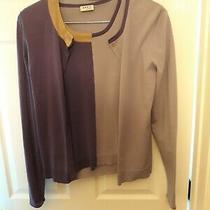 Akris Punto Sweater Set Purple and Lilac Color Block Twin Set Size 6 Photo