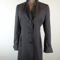 Akris Punto Switzerland Gray Wool Coat Long Jacket F36 6 Mint High Collar Photo
