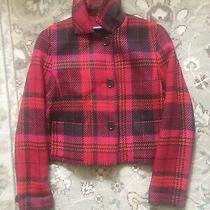 Akris Punto Women's Jacket - Red & Pink Plaid Wool Size. 8 Photo