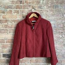 Akris Punto Womens Jacket Sz 38 Fr/ 6 Us Red Knit Photo