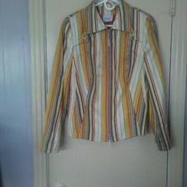 Akris Punto Women's Size 14 100% Silk Blazer Jacket Euc Photo