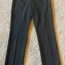 Akris Punto Womens Size 8 Black Dress Pants Zipper Wool Photo
