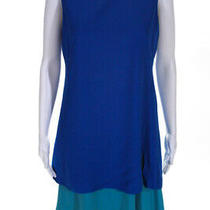 Akris Punto  Womens Sleeveless Color Block Dress Blue Teal Size 8 Photo