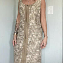 Akris Punto Wool Boucle Sleeveless Zip Front Dress Womens Us Size 8 Photo