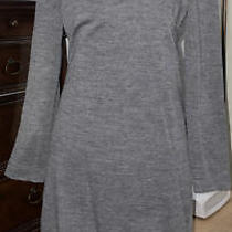 Akris Punto Wool Dress Warp Around Stand Collar Gray Sz 12 Worn Once Photo