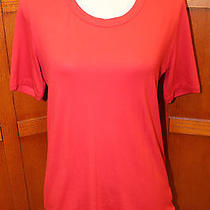 Akris Red Short Sleeve Tee Top Tunic Shirt Blouse Us 12 F 44 D 42 Photo