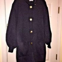 Akris Switzerland Made Vintage Runway Model Sweater Heathered Grey Boutique Sz L Photo