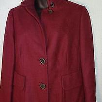 Akris Wine Burgundy Tweedy Look Blazer Jacket Size 16 Wool Photo