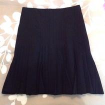 Akris Woman's Black Skirt Size 6 High End Designer 100% Wool Euc Lightly Worn Photo