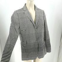 Akris - Women's Size 12 - Black & White Polka Dot Blazer Suit Jacket Wool Blend Photo