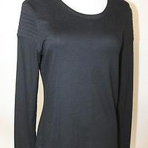 Akris Womens Black Cotton Long Sleeve Top Sz 14 Photo