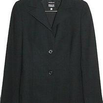 Akris Womens Blazer Jacket Wool Size 6 Black Photo