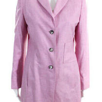 Akris Womens Three Button Notched Lapel Blazer Jacket Pink Wool Size 10 Photo